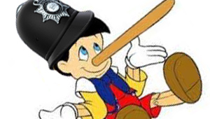 P.C. Pinocchio Demonstrates How to Lie to the Public (Badly)