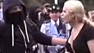 "Female Reporter Attacked by Masked ""Anti-Fascist"" Thug, Then Blamed by Police for Being ""Too Provocative"""