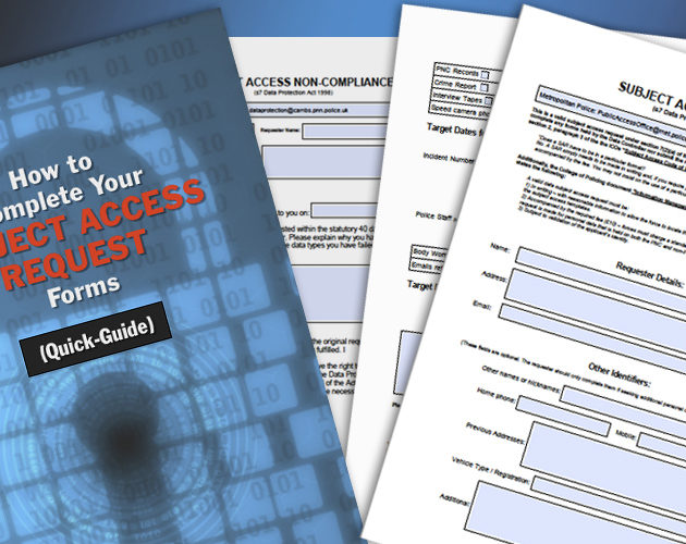 Access Your Police Data and Criminal Record, Quickly and Easily, with this Subject Access Request Pack