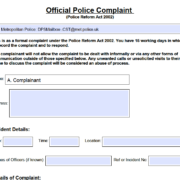 All Forces Police Complaint Form